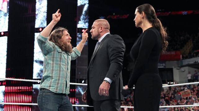 Daniel Bryan Triple H Stephanie McMahon