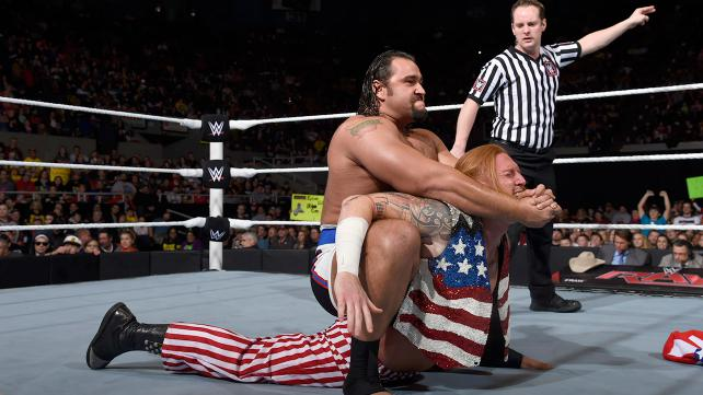 Rusev vs Heath Slater