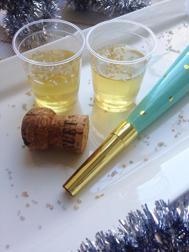 Champagne Jell-O Shots recipe // Feast + West