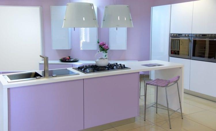 17 Amusing Purple Color Kitchen Design Scheme