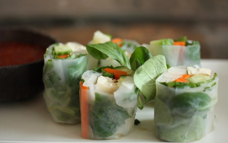Spring Rolls with Tofu, Avocado, Radish and Mint ...