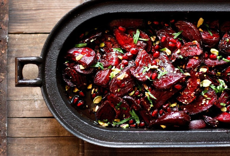 Marvelous Moroccan Roasted Beets With Pomegranate Seeds