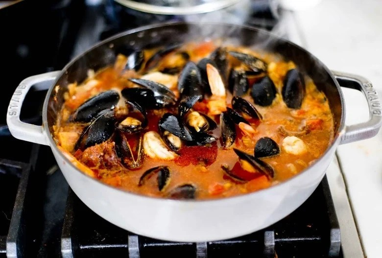 Summer seafood stew feasting at home for Fresh fish recipes