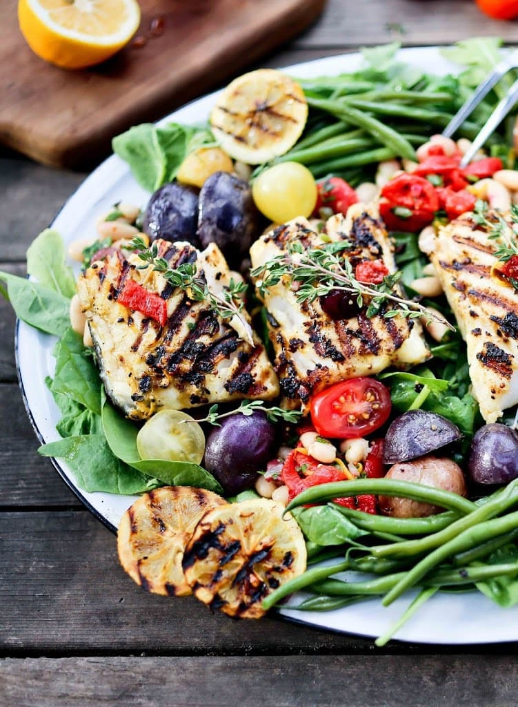 Summer nicoise salad with grilled fish for Fish and salad
