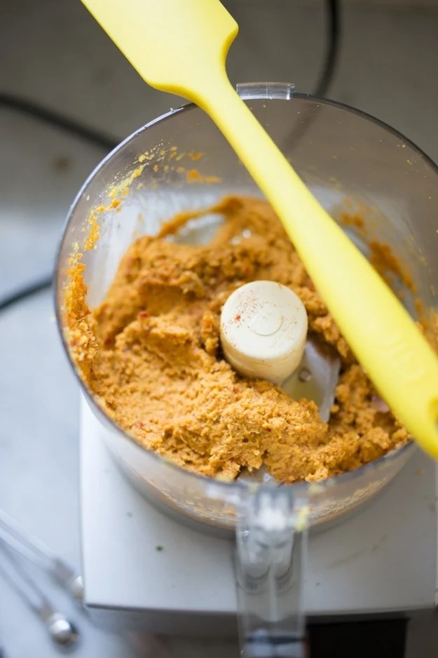 Laksa Paste for Malaysian Laksa Soup w/ Coconut, Curry, Chicken and Shrimp over rice noodles| www.feastingathome.com