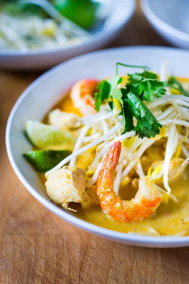 Laksa Soup - A Malaysian Coconut Curry Soup