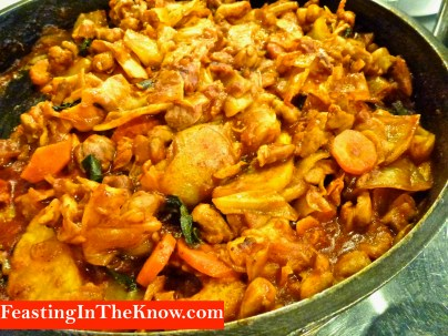 Dak galbi - ready to eat (Korean chicken and veg in red pepper paste)