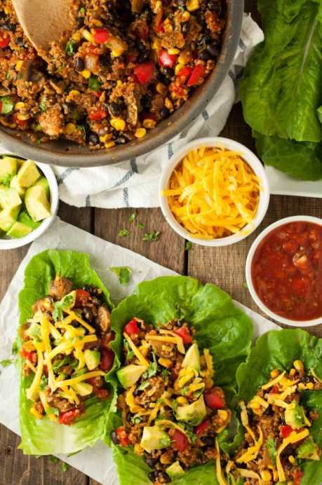taco vegetarian lettuce wraps