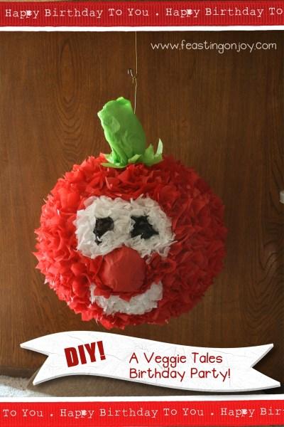 DIY A Veggie Tales Birthday Party