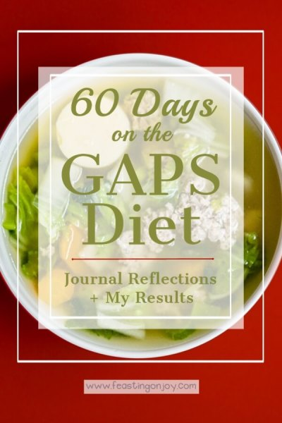 60 Days on the GAPS Diet {Journal Reflections + My Results} | Feasting On Joy