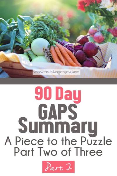 90 Day GAPS Summary { A Piece to the Puzzle Part Two of Three }   Feasting On Joy