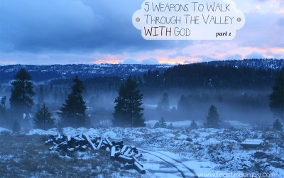 5 Weapons To Walk Through The Valley WITH God. Part 1
