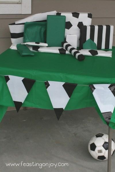 Soccer Birthday Presents Table