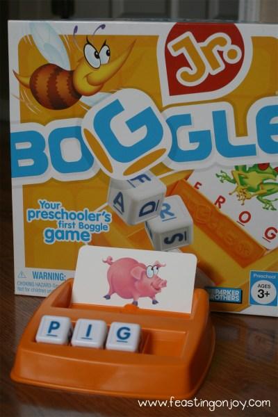 Close Up of Boggle Junior Game