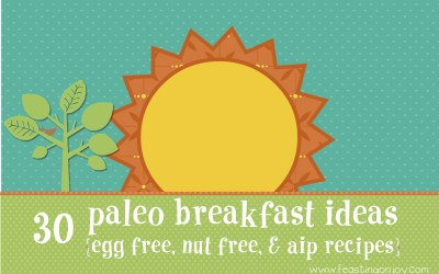 30 Paleo Breakfast Ideas {Nut Free, Egg Free and AIP Options}