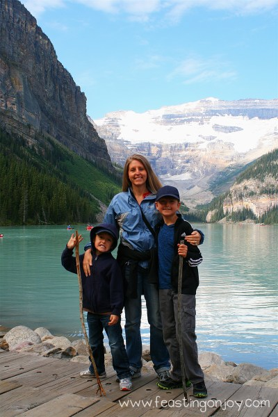 My and the Boys at Lake Louise