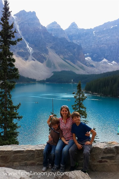 The boys and I at Lake Moraine