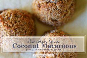 Pumpkin Spice Coconut Macaroons {grain, gluten, dairy and refined sugar free}