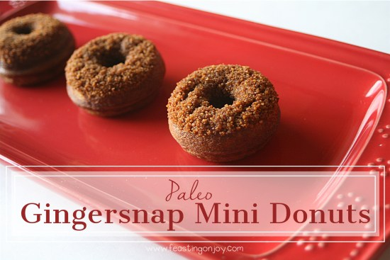 Paleo Gingersnap Mini Donuts 8 | Feasting On Joy