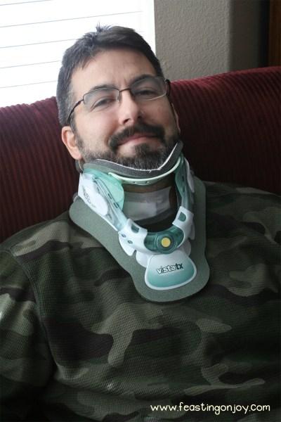 Steve after neck surgery