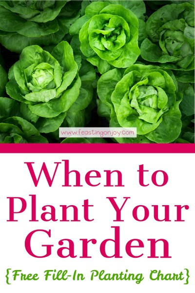 When to Plant Your Garden {With Free Fill-In Planting Chart} | Feasting On Joy
