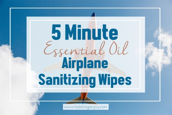 5 Minute Essential Oil Airplane Sanitizing Wipes | Feasting On Joy
