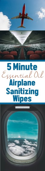 5 Minute Essential Oil Airplane Sanitizing Wipes LP | Feasting On Joy