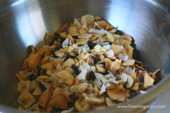 Bowl of AIP Granola Ingredients
