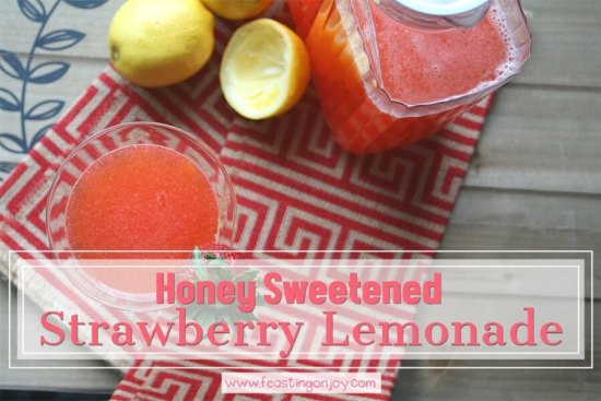 Honey Sweetened Strawberry Lemonade {AIP & GAPS Friendly} 1 | Feasting On Joy