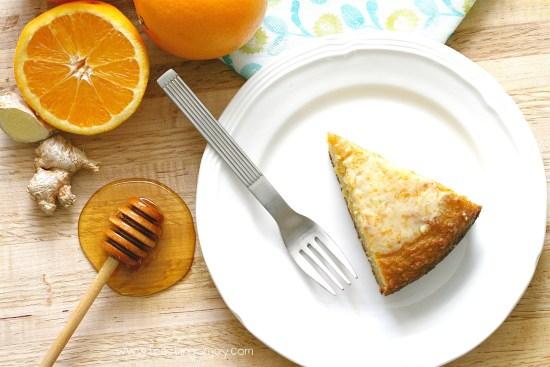 Decadent Grain Free Orange Ginger Honey Cake 4 | Feasting On Joy