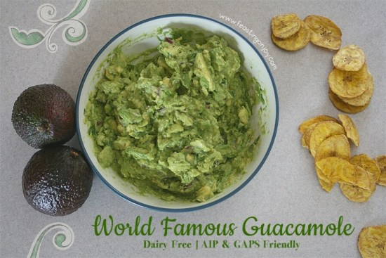 World Famous Guacamole { Dairy Free, AIP & GAPS Friendly} | Feasting On Joy
