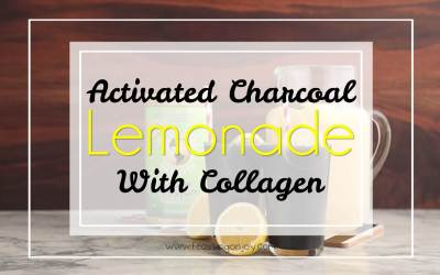 Activated Charcoal Lemonade with Collagen