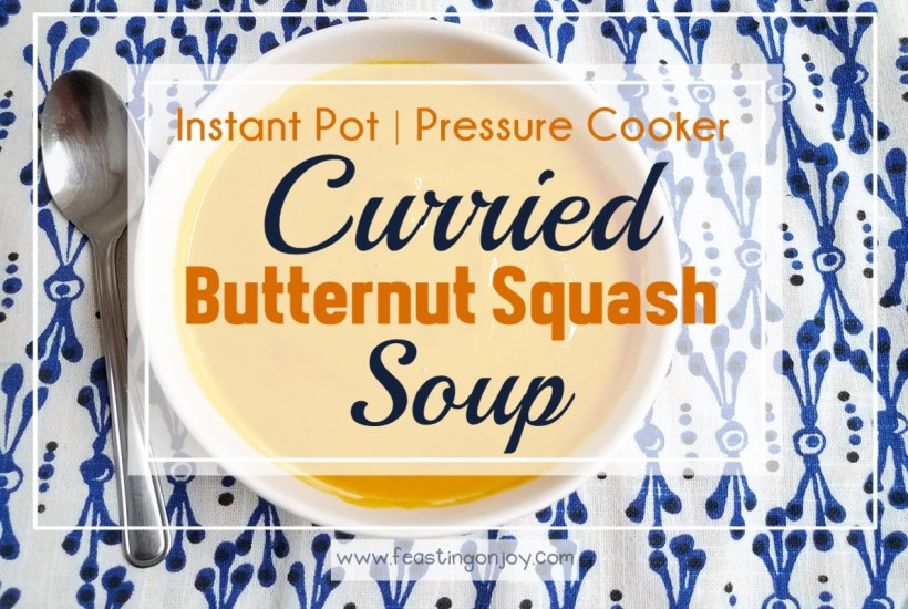 Instant Pot Curried Butternut Squash Soup