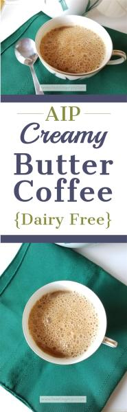 AIP Creamy Butter Coffee {Dairy Free} | Feasting On Joy