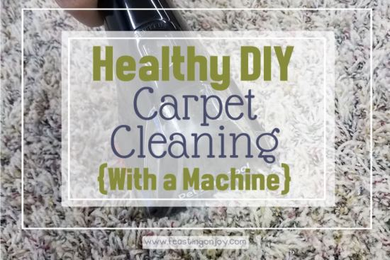 Healthy DIY Carpet Cleaning { With a Machine} 1 | Feasting On Joy