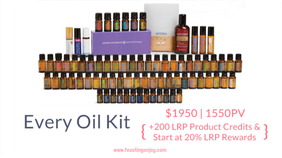 Buy doTERRA Essential Oils Every Oil Kit | FeastingOnJoy Oils