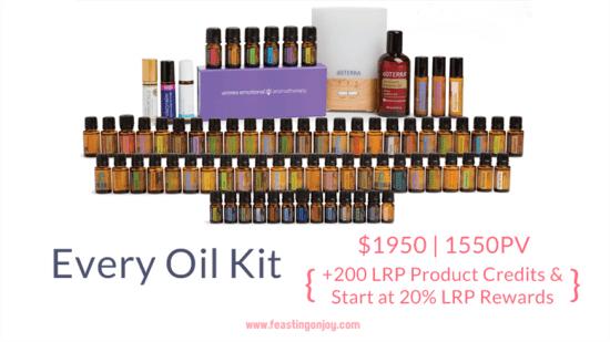 Buy doTERRA Essential Oils Every Oil Kit | FeastingOnJoy Oils