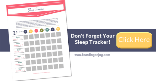 Don't Forget Your Sleep Tracker | Feasting On Joy