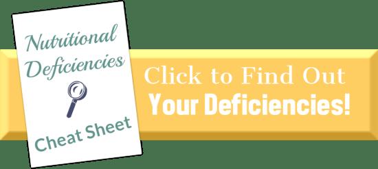 Nutritional Deficiencies Cheat Sheet   Feasting On Joy