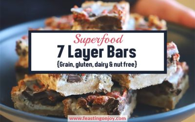 Superfood 7 Layer Bars {Grain, Gluten, Dairy & Nut Free}
