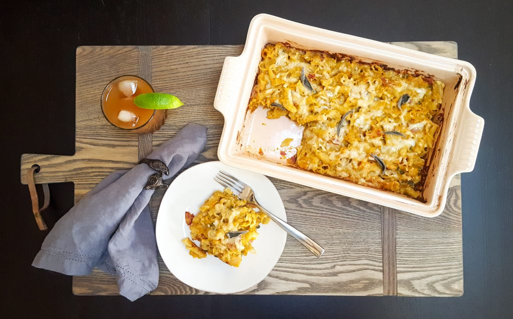 Roasted Pumpkin Baked Pasta | Feast In Thyme