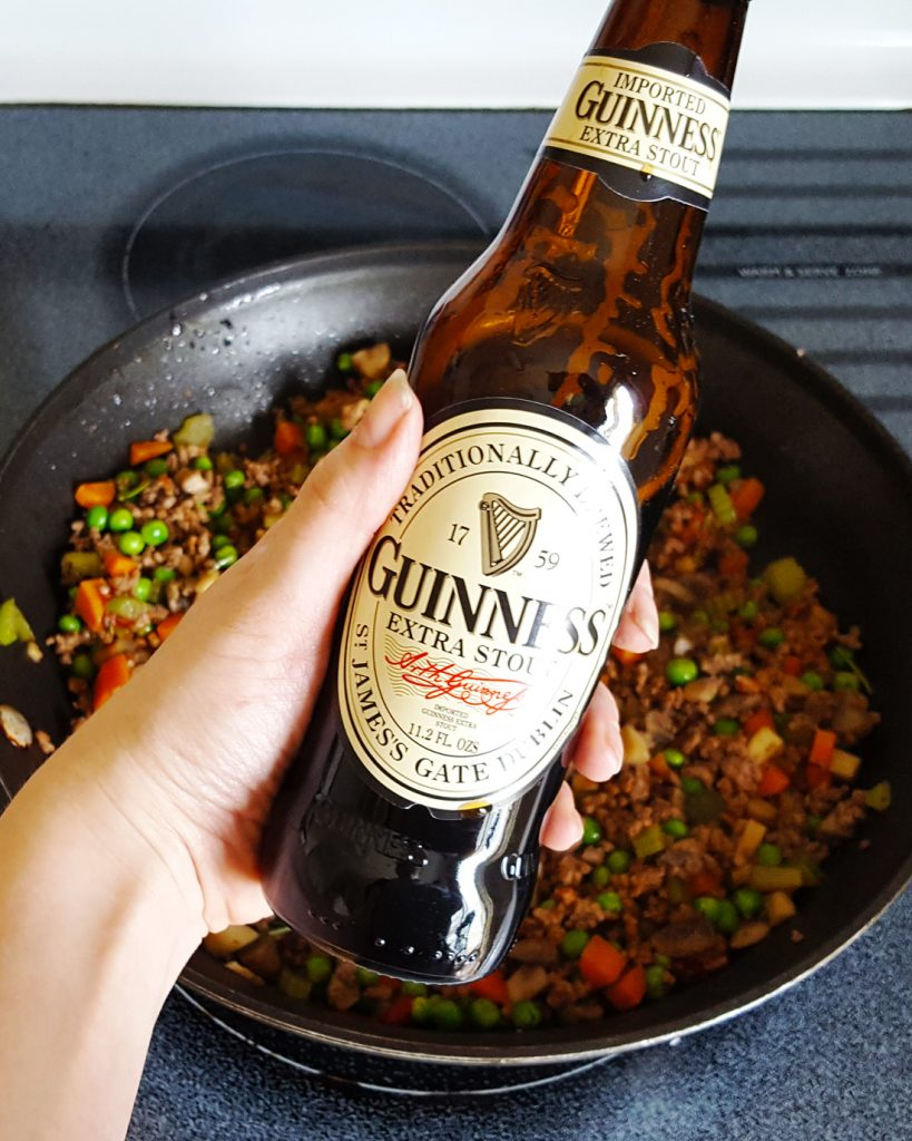 Sage & Brown Butter Mashed Potato Shepherd's Pie with Guinness, Bacon, & Beef Filling   Feast In Thyme