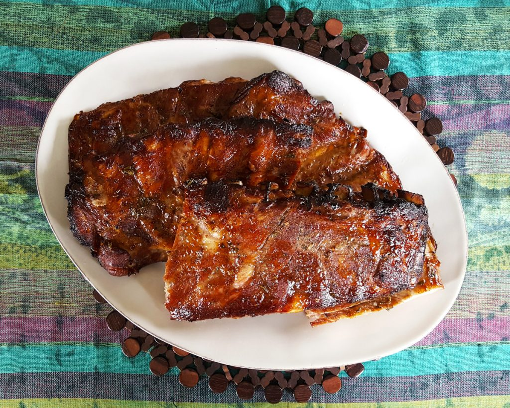 Oven Baked Ribs in Sweet Rum Molasses Glaze   Caribbean Fete   Feast In Thyme