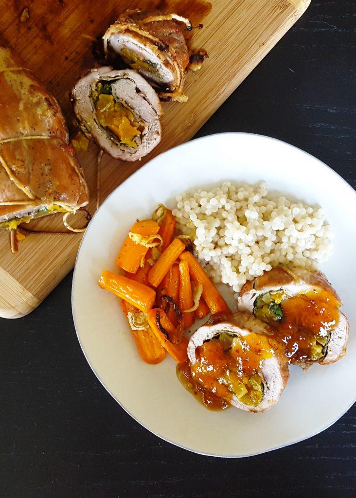 Brandied Apricot Stuffed Pork Tenderloin | Feast In Thyme
