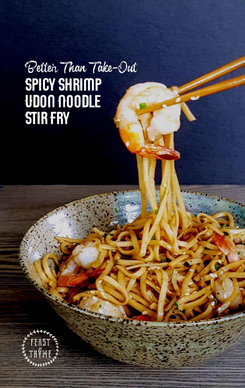 Better Than Take-Out: Spicy Shrimp Udon Noodle Stir Fry