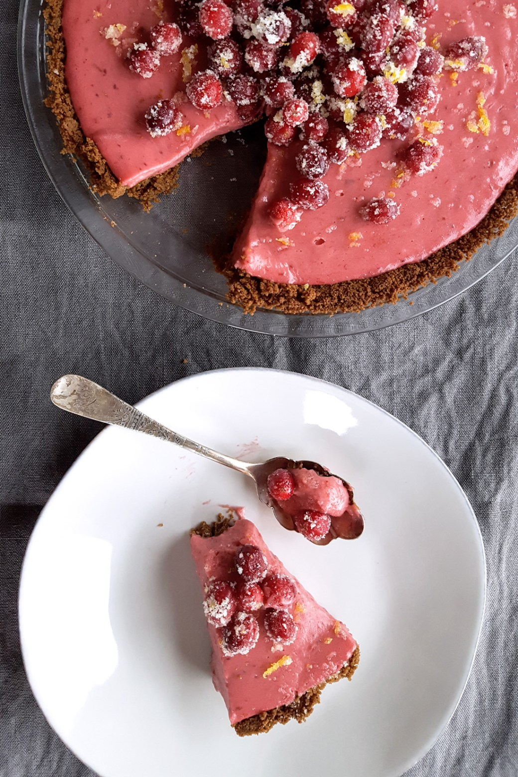 Cranberry Orange Pie with Gingersnap Crust