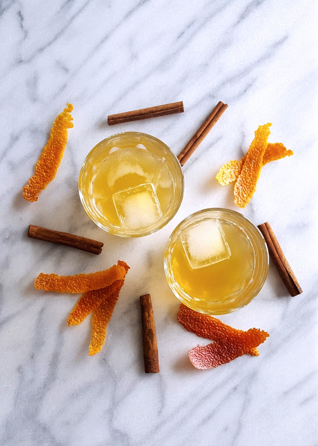 Cinnamon Spiced Old Fashioned with Muddled Blood Orange