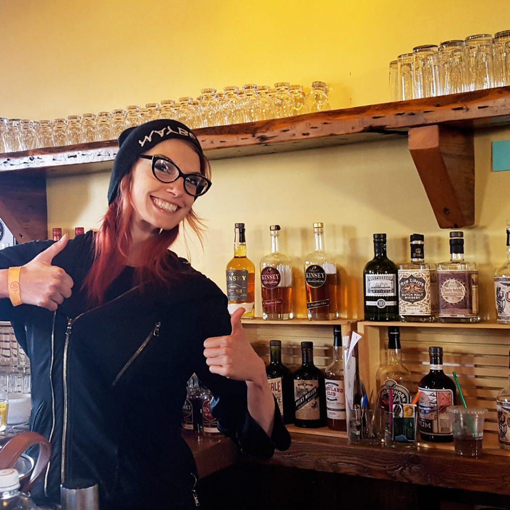 Bartender Dani at the New Liberty Distillery | Thymeline 36 | FeastInThyme.com