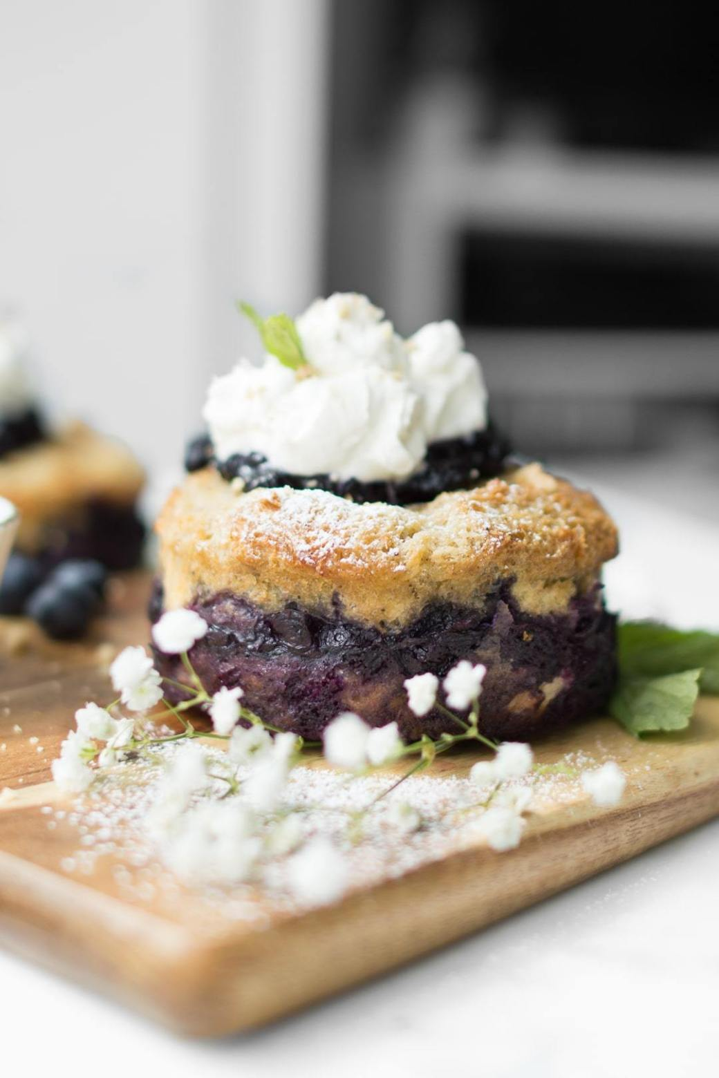 Baked Blueberry French Toast Cake by Chef Sous Chef