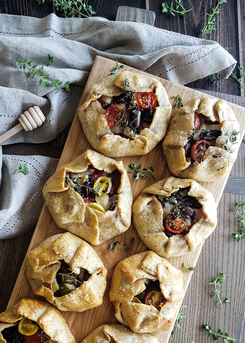 Platter of Ratatouille Hand Pies | FeastInThyme.com